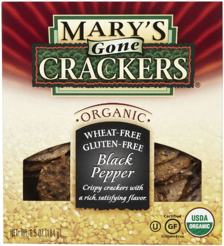 Mary's Gone Crackers Original Organic Seed Crackers - Black Pepper-6.5 Oz (Vegan Foods Grocery compare prices)