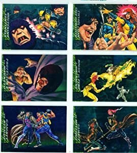 '94 Fleer Ultra X-Men Greatest Battles Limited Edition Subset Complete Set of 6 Trading Cards