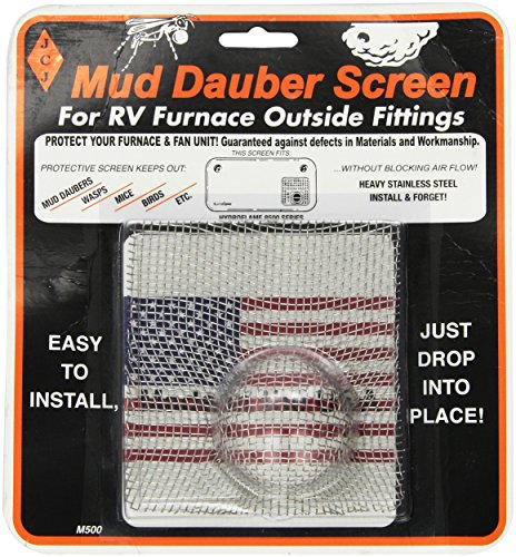 JCJ M-500 Mud Dauber Screen for RV furnace Outside Fitting (Furnace Prices compare prices)
