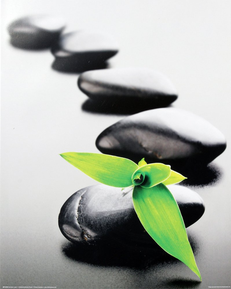 Spa Zen Stones Green Flower