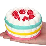 callm Jumbo Slow Rising Squishies Strawberry Cake Charms Kawaii Squishies Cream Scented Stress Reliever Toys for Kids and Adults (Cake)