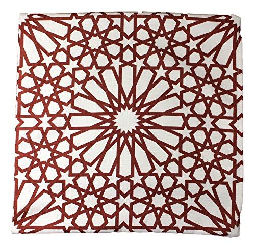 43x 43cm Geometrische Muster Design Marokkanische Kastanienbraun Burgund Fliesen Print Kissen Kissen Outdoor Cover-für Sofa Hundebett Geschenk Home Decor Kissen