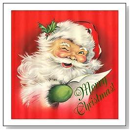 Vintage Santa Claus Shower Curtain by CafePress