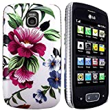 CellBig O- Floral Hard Back Case Cover Pouch Mask Wallet Pocket Holster for Your LG Optimus One P500 P503