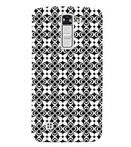 Fuson Premium Conical Design Printed Hard Plastic Back Case Cover for LG K7