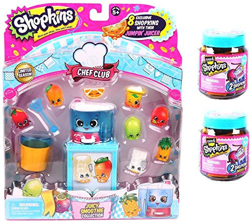 Shopkins Chef Club Juicy Smoothie Collection PLUS 2 Chef Club Jars