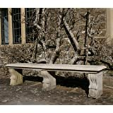 Large Garden Benches - Double Length Ivy Straight Stone Bench
