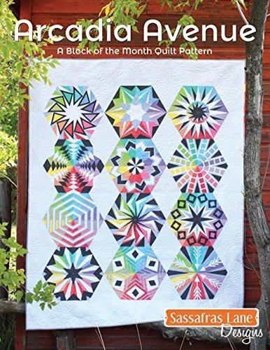 Sassafras Lane Designs Arcadia Avenue Modern Hexagon Quilt Pattern Book (Quilt Stencil Patterns compare prices)
