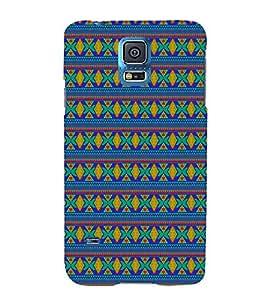 Indian Jaipuri Pattern 3D Hard Polycarbonate Designer Back Case Cover for Samsung Galaxy S5 Mini :: Samsung Galaxy S5 Mini G800F