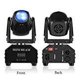 Mini Moving Head Stage Light RGBW (4 in 1) DMX512 Beam Spot LED Lighting Effect 11/13 CH for DJ Disco Club Party Dance Wedding Bar Theater Pub Christmas by Leenabao (Color: 1 Pack)