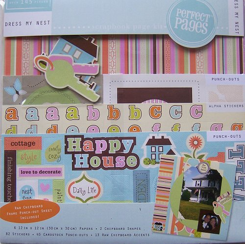 Colorbok Perfect Pages Dress My Nest Scrapbook Page Kit