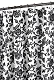Park B. Smith Floral Swirl Watershed Shower Curtain, White/Black