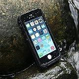 Levin - Serie Outdoor  Coque iPhone 5 5S Imperméable Deux Mètre sous l'eau étanche Anti-Choc Anti-Neige Pare-Poussière / Housse Etui Durable Pleine Protection Cacheté pour iPhone 5 5S (Noire)