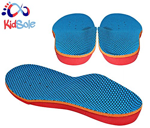 New Bouncy & Sturdy Technology Insole by Kidsole. For Active Kid's With Sensitive Feet Who Need Arch Support (Kid's Size 2-5 (23 CM)) (3 4 Shoe Inserts compare prices)