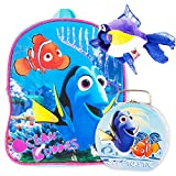 """Finding Dory Nemo Preschool Backpack Toddler (11"""") with Finding Dory Snack Tin Lunch Box and Bonus"""