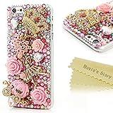 6 Plus Case,Iphone Case - Mavis's Diary 3D Handmade Bling Crytal Full Diamond Luxury Series Cute Pumpkin Car Golden...