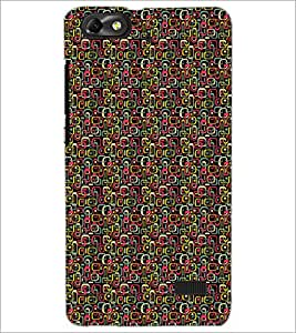 PrintDhaba Shapes Pattern D-5905 Back Case Cover for HUAWEI HONOR 4C (Multi-Coloured)