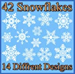 42 Original Snowflake Window Clings -...