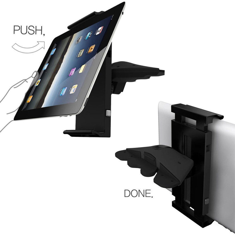 Cd slot cell phone mount