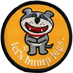 Old Glory Unisex-Adult Dog Of Glee - Lets Hump Legs Patch Nylon Accessory from Old Glory