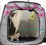 Cat1st Portable Pop Open Cat Cage/travel/drive/cage/emergency/light Weight (Black)