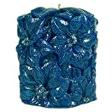 Hanukkah Candles Poinsettia Blue