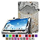 Fintie Premium PU Leather Case Cover for 10.1 Android Tablet inclu. Dragon Touch A1 10.1, Dragon Touch A1X 10.1, iRulu 10.1 A20, 2014 NEW iRulu 10 inch Quad Core Android Tablet PC, ProntoTec 10 inch Dual Core Android 4.2 Tablet PC, Contixo Q102 10.1, Poofek 10.1 inch Google Android Tablet 32GB / A31S, Polatab Elite Q10.1, ValuePad VP112 10, Tagital T10 10.1, Shamo's New 10.1, Epassion E1 10.1, TouchTab 10.1, Amar 10.1 A20, NeuTab N10 10.1(PLEASE check the complete compatible tablet list under Product Description) - Map Design