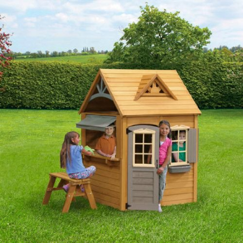 Wooden Playhouse For Kids. These Beautiful Wooden Playhouses For Kids Outdoor Features A Shiplap Roof Made Of Real Cedar. Your Kids Will Have Tons Of Fun With This Outdoor Playhouse.