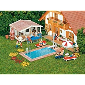 Faller 180542 maqueta de jard n con piscina importado for Maquetas de jardines