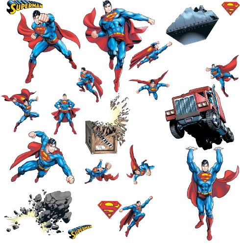 RoomMates RMK1194SCS Superman: Day Of Doom Peel & Stick Wall Decals