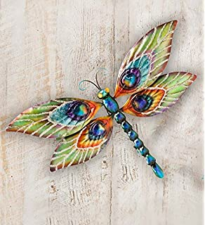 Amazon.com: Eangee M711044 Wall Dragonfly Peacock Metal Art Piece ...