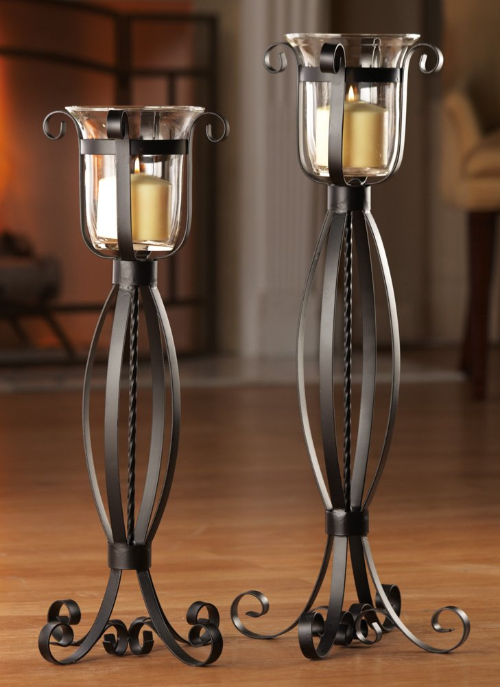 Metal floor standing candle holder for Floor candle holders