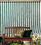 8' x 6' Roll-Up Breathable Outdoor Window Shade, in Green Stripe