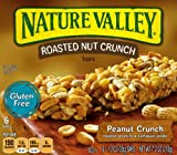 Nature Valley Gluten Free Roasted Nut Crunch Granola Bars, Peanut Crunch, 6 - 1.2 Ounce Bars (Pack of 6)