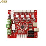ANET V1.5 Self Assembly Replacement Control Board for ANET A8 Desktop 3D Printer Reprap i3-12V - 24V Mother Board/Mainboard for 3D Printer (1PCS) (Color: Red, Tamaño: 3.9 * 3.7 * 0.8 inch)