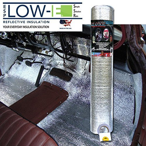 ESP Low-E® EZ-Cool Car Insulation Kit(Includes 100 Sq. Ft Insulation, 25' Foil Tape): Heat and Sound Automotive Insulation For Your Car Restoration Projects (Carpet Insulation compare prices)