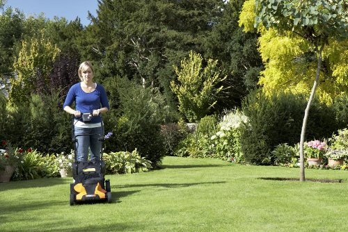 WORX WG782 14-Inch 24-Volt Cordless Lawn Mower with IntelliCut picture