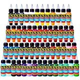 Solong Tattoo® 54 Colors Complete Tattoo Ink Set Pigment Kit 1oz (30ml) Professional Tattoo Supply for Tattoo Kit TI301-30-54