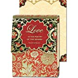 Love is the poetry of the senses Gold Foil Embellished Notepad