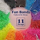 【14袋セット!】Fun Bands LOOM BANDS ルームバンド ゴム アクセサリー 11Straps オリジナルセット 14種類×600個=8400個 ファンルーム レインボールームにも ランキングお取り寄せ