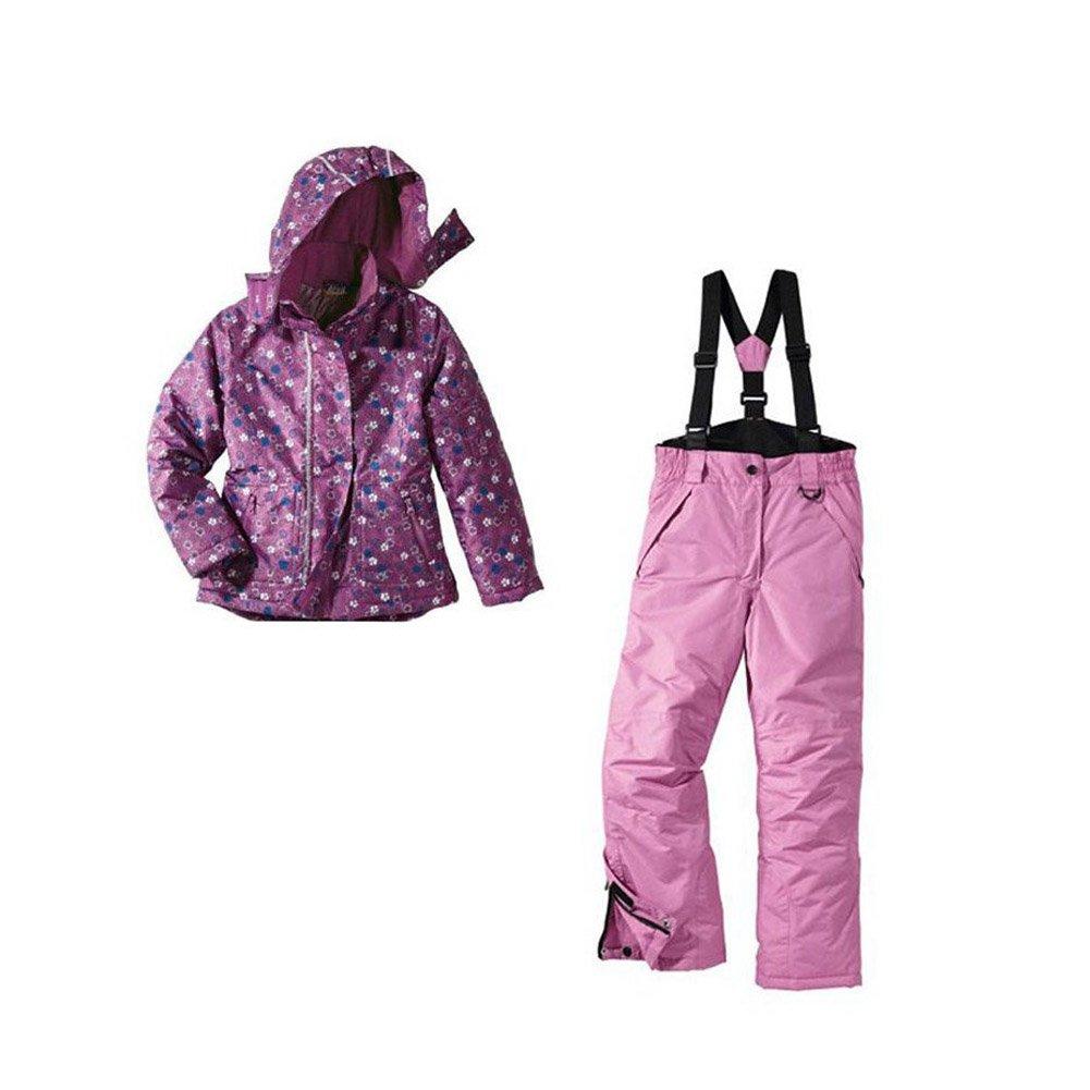 Mädchen Skianzug Snowboardanzug Größe: 146/152 Lila-Blümchen Snowboardjacke & Snowboardhose Set Schneeanzug günstig bestellen