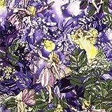 Tela brillante en lila Night Fairies de Michael Miller