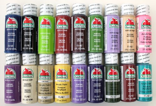 Plaid promoabii apple barrel acrylic paint 2 ounce best for How to use acrylic paints