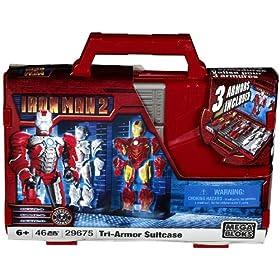 Mega Bloks Ironman 2 Tri-Armor Iron Man & Suitcase