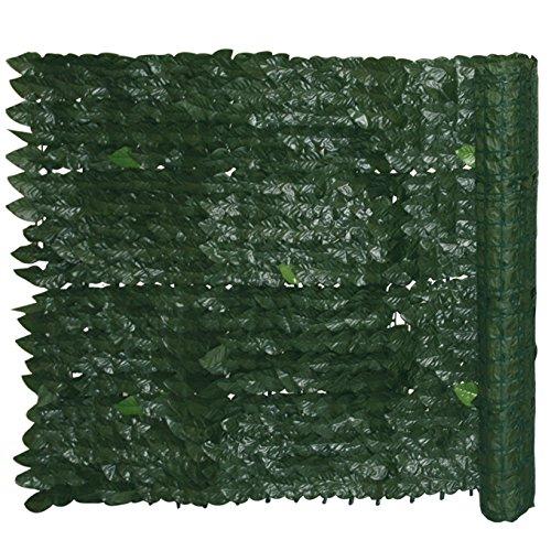 Siepe sintetica giardino con foglie di edera cm 1 5x3 m - Pannelli divisori giardino ...