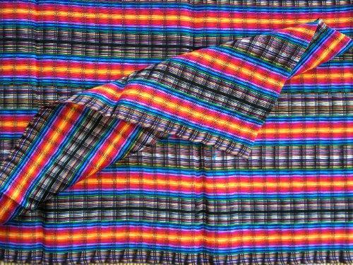 Short Rainbow Head Wrap Cotton Gauze Hair Scarf Bandana Turban Chemo Cap front-545547