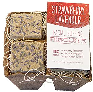 FarmHouse Fresh Farmhouse Fresh Strawberry Lavender Facial Buffing Biscuits NEW