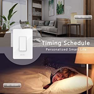 3 Way WiFi Smart Wall Light Switch Wireless Remote APP Control From Anywhere Compatible with Alexa and Google Home Timer Function No Hub Require(3-Way Smart Switch (1 Piece)) (Color: White, Tamaño: 3-Way Smart Switch (1 Piece))