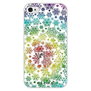 Mozine Snowflake Pattern Printed Mobile Back Cover For Apple Iphone 4S