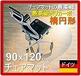 【楕円形 90x120cm】 ドイツ バイエル社のチェアマット